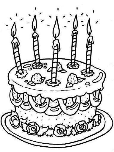 gateau anniversaire, gateau, bougies, 5